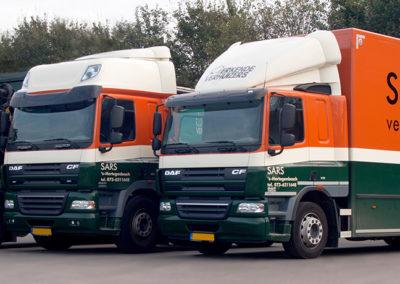 Sars vrachtwagens