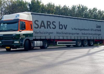 Sars vrachtwagen